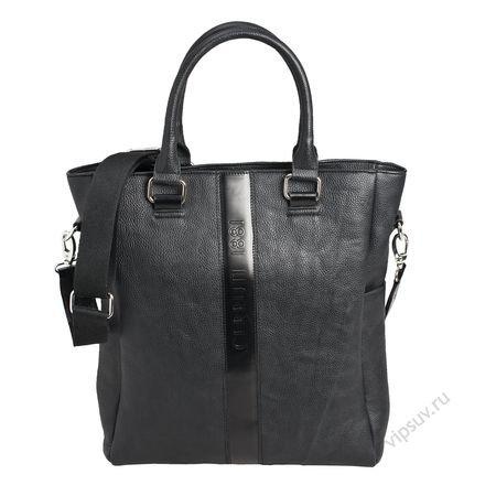 Женская сумка Cerruti черная кожаная.  (Сумки для покупок Cerruti...